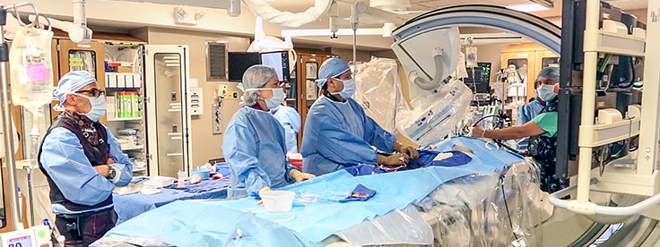 Englewood Hospital hybrid operating room in use
